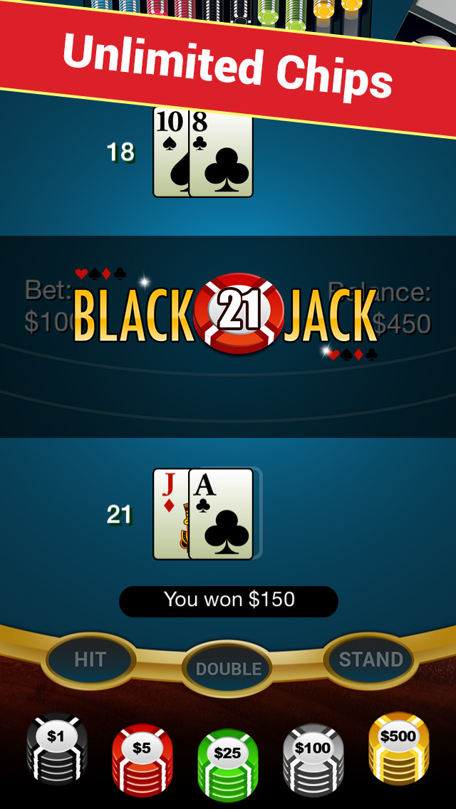 Blackjack Anywhere - The Best Real Blackjack Game for your Apple Watch or your iPhone. screenshot 1