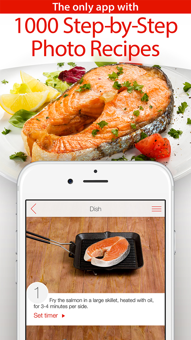 Yum-Yum! 1000+ Free Recipes with Step-by-Step Photos & Grocery Shopping List screenshot 1