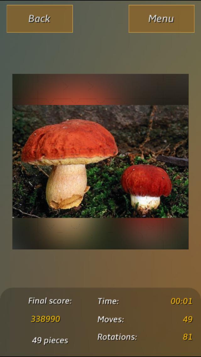 Mushrooms Jigsaw Puzzles screenshot 2