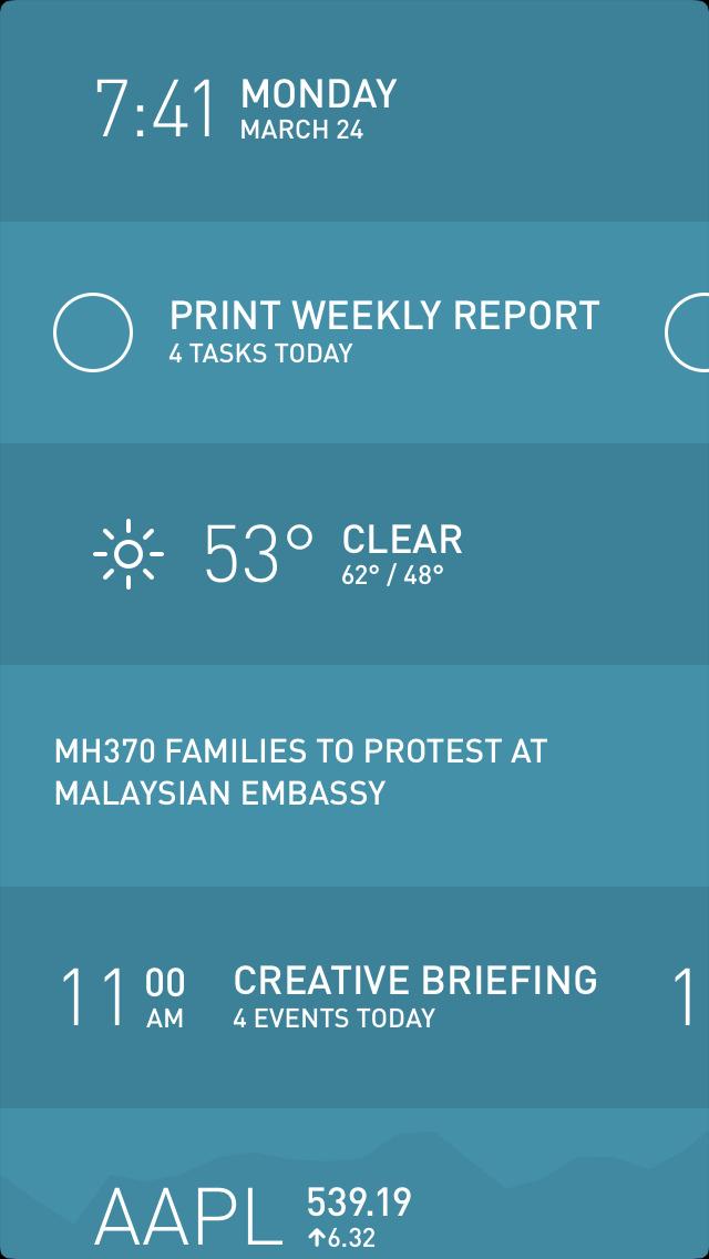 Morning — Weather, To-Do, News screenshot 1