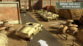 Truck simulator PRO -  Army trucker edition - Test drive and park real military car, plane and tank screenshot 2