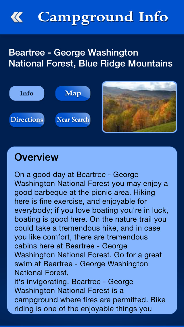 Virginia Campgrounds Guide screenshot 3