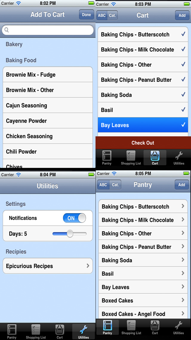 Grocery Shopping Checklist and Pantry Inventory Checklist. screenshot 3