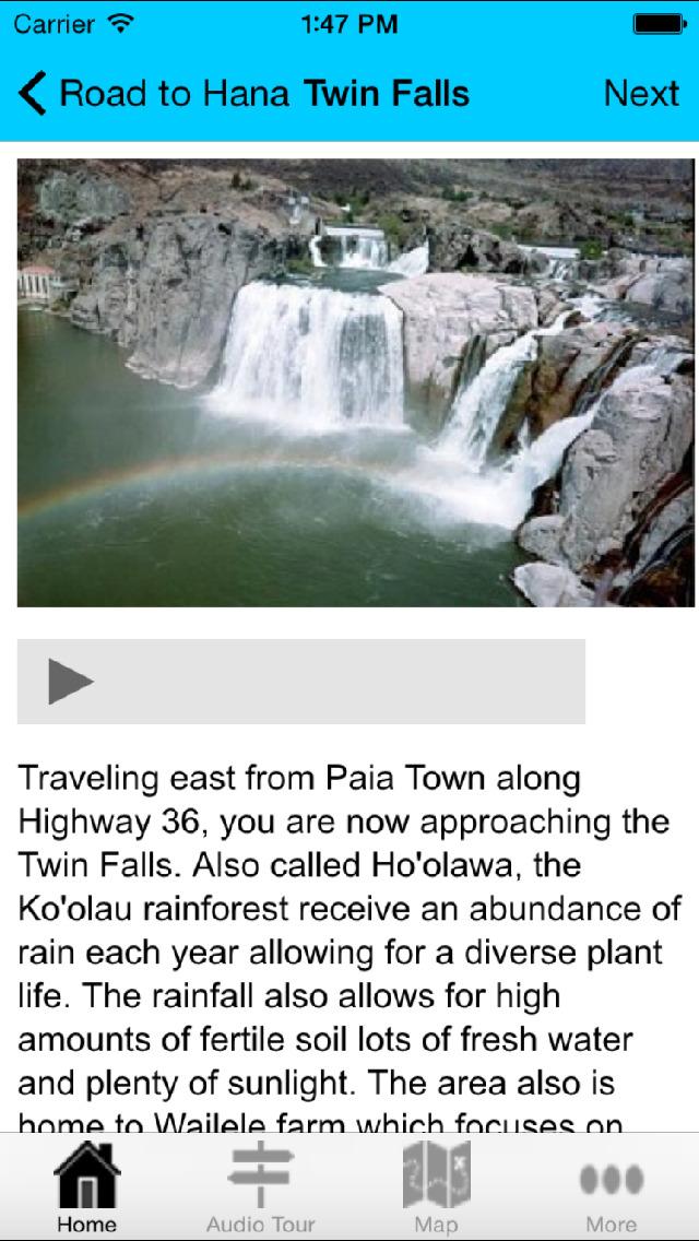 Road to Hana Driving Tour GPS screenshot 3