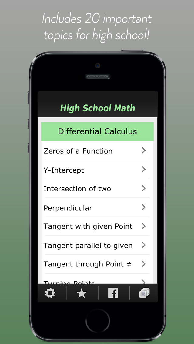 High School Math - Calculus screenshot 1