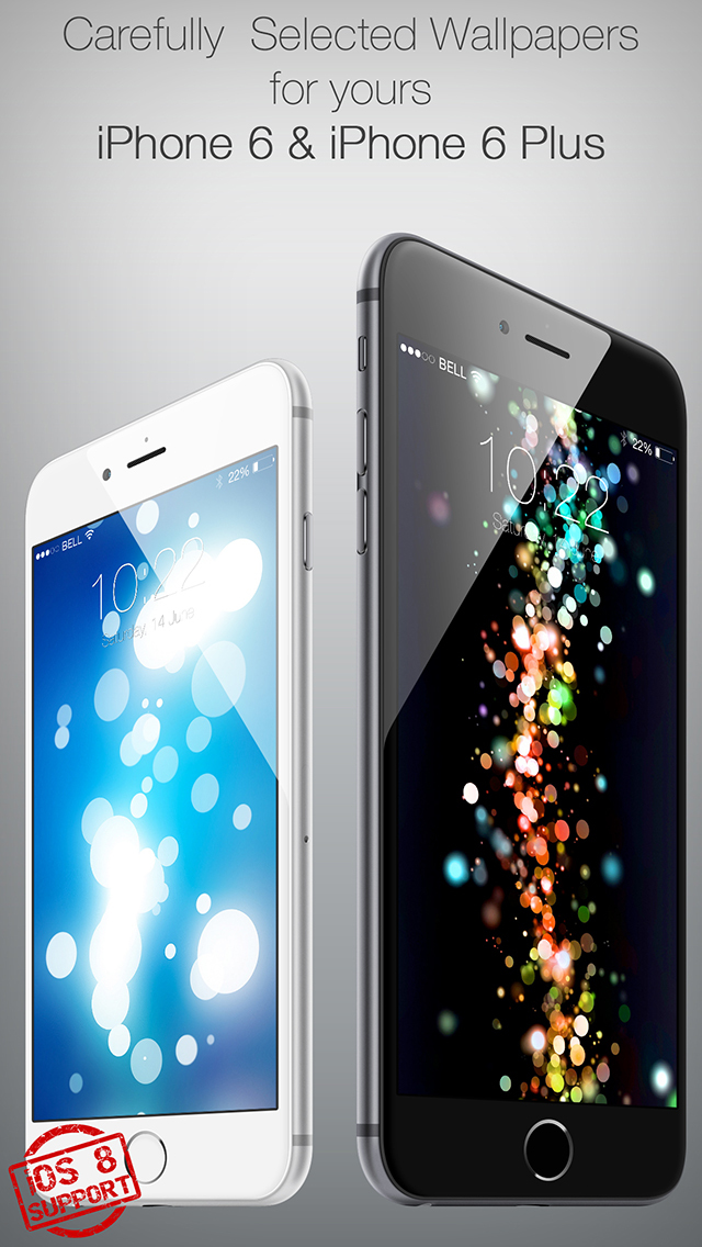 Colored 3D Wallpapers for Your New iPhone and iOS 8 screenshot 3