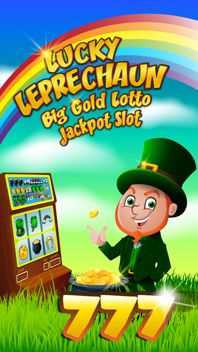 `Lucky Leprechaun Big Gold Jackpot Lotto 777 Casino Slots - Slot Machine with Blackjack and Prize Wheel screenshot 4