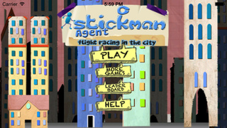 Stickman Agent : Flight Racing In The City screenshot 1