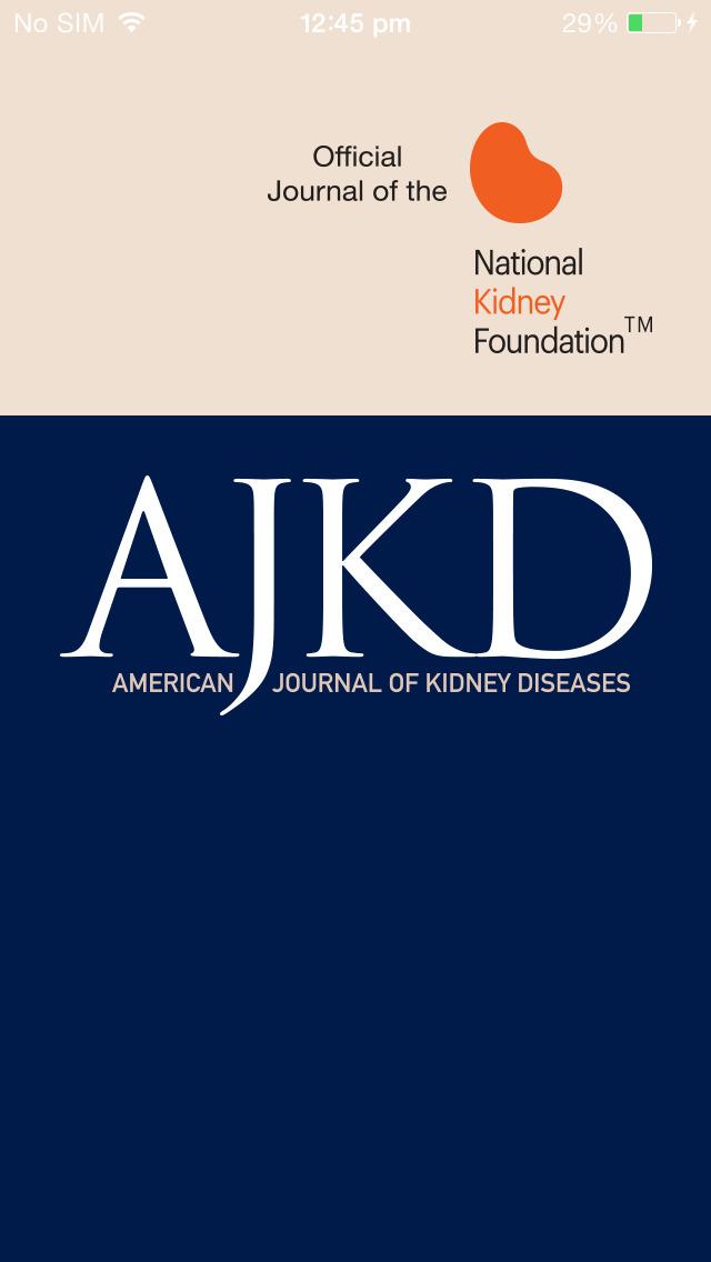 AJKD, The American Journal of Kidney Diseases screenshot 1
