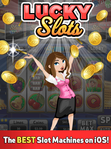 Lucky Slots Tablet: Free Vegas Casino Simulator screenshot 1
