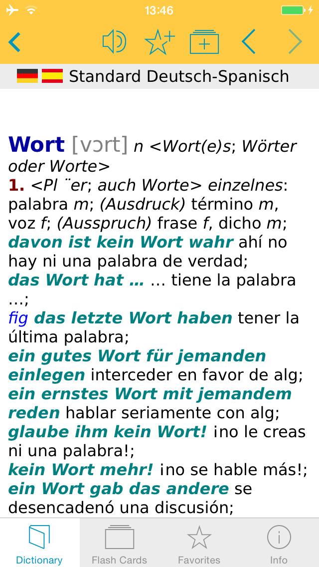 Big German Spanish Dictionary screenshot 1