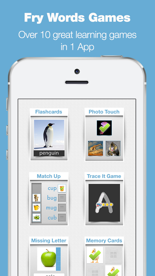 Fry Words Games and Flash Cards screenshot 1