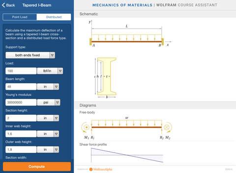 Wolfram Mechanics of Materials Course Assistant screenshot 10
