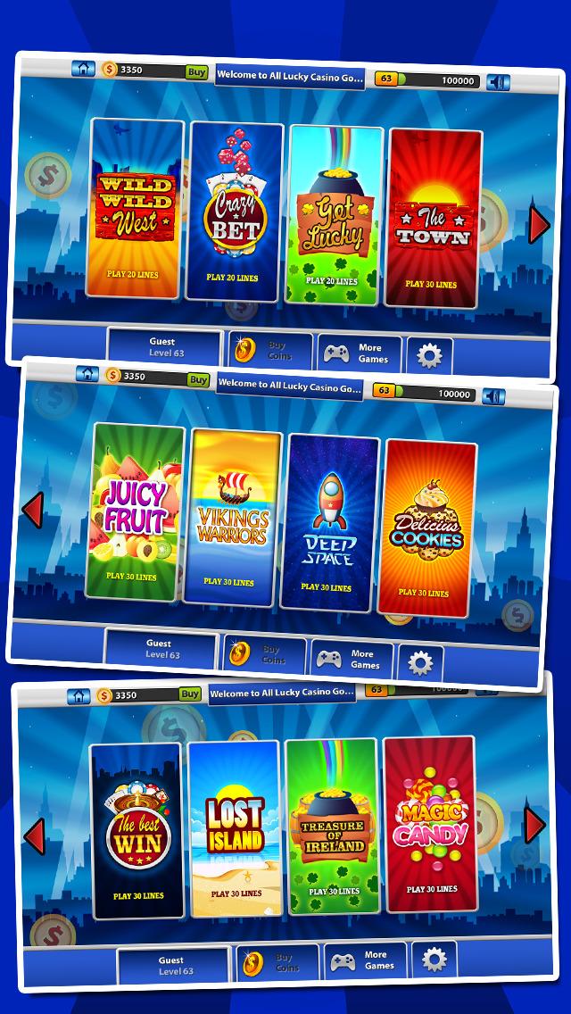 `Lucky Gold Coin Jackpot Casino 777 Slots - Slot Machine with Blackjack, Solitaire, Bonus Prizewheel screenshot 3