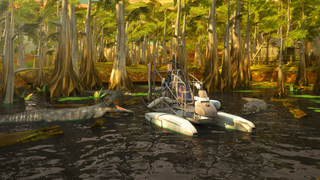 3D Swamp Parking PRO - Full Jet Boat Driving & Racing Version screenshot 1