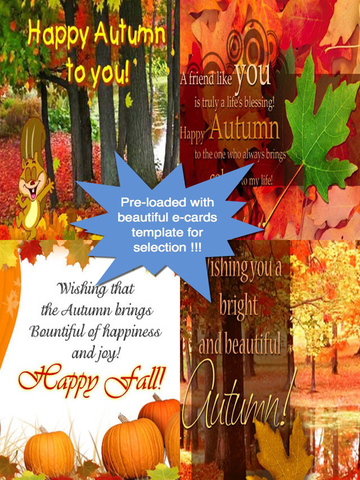 Happy Autumn Greeting Cards screenshot 7
