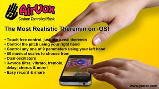 AirVox - Gesture Controlled Music screenshot 1