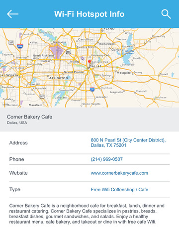 Dallas City Free Wi-Fi Hotspots screenshot 8