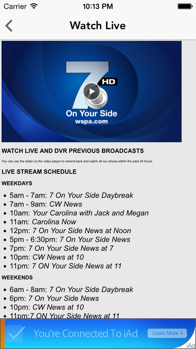 WSPA 7News | Apps | 148Apps