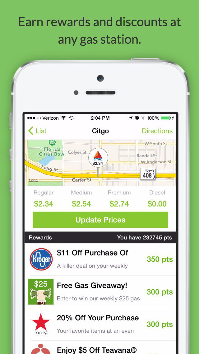 Fuelzee - Cheap Gas Prices and Gas Station Finder screenshot #2