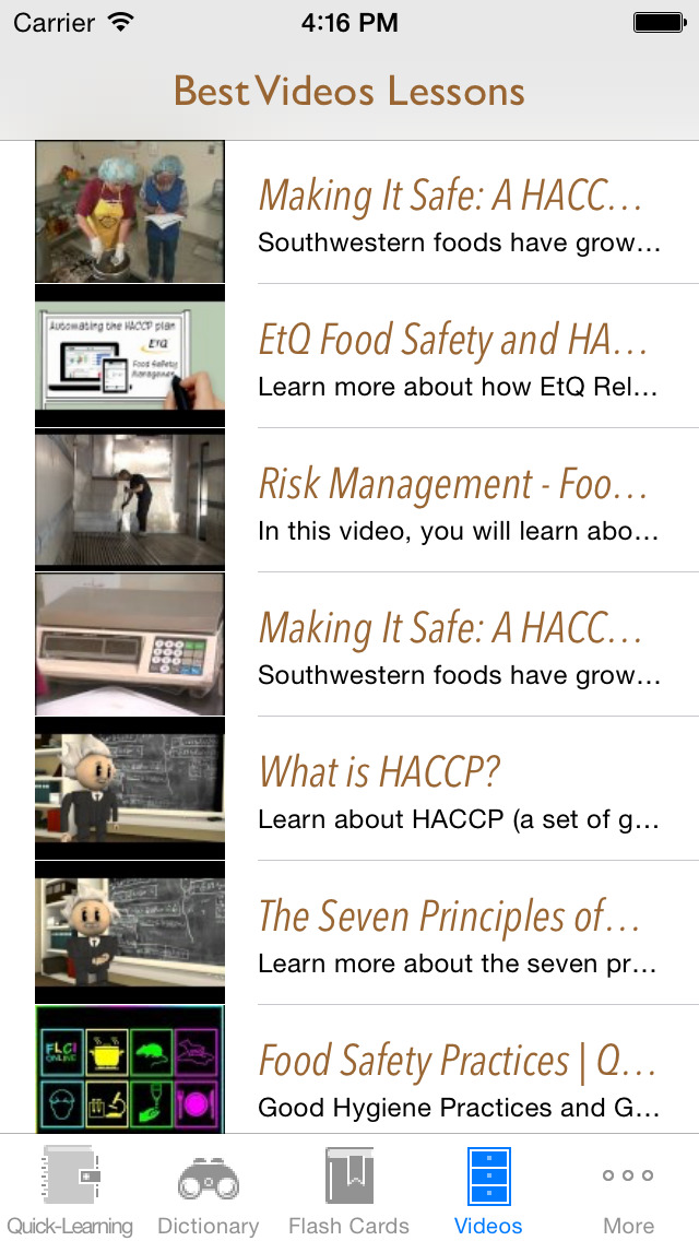 HACCP and Food Industry Quick Reference: Dictionary with Free Video Lessons and Cheat Sheets screenshot 5