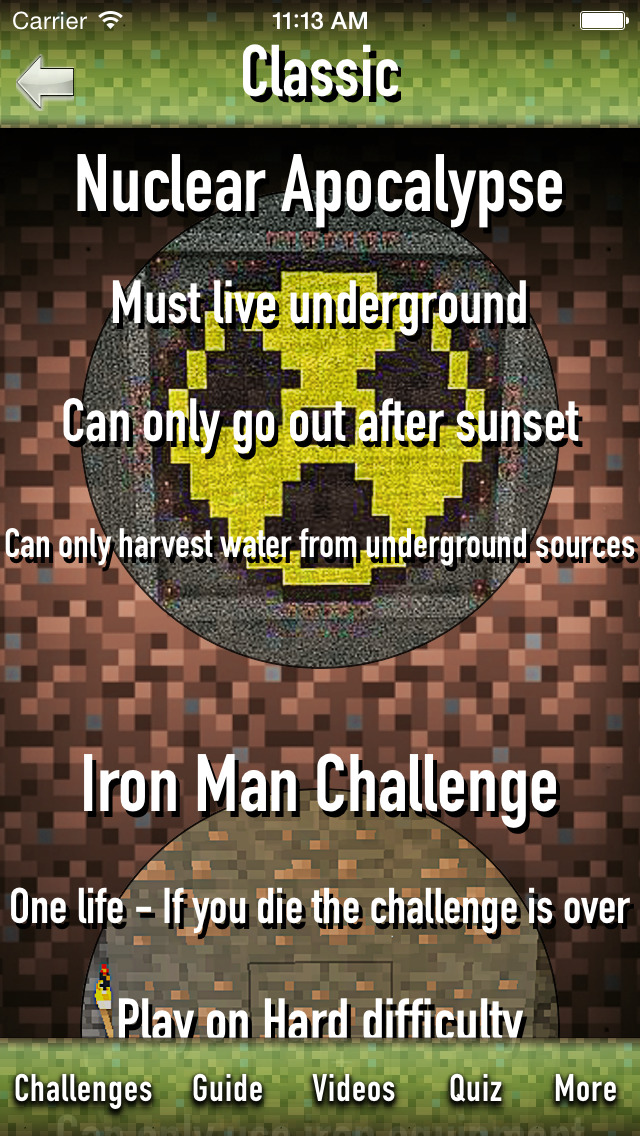 Challenge Games for Minecraft screenshot 2