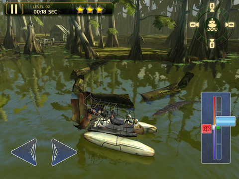 3D Swamp Parking - Real Speed Boat Simulator Driving & Racing Games screenshot 7