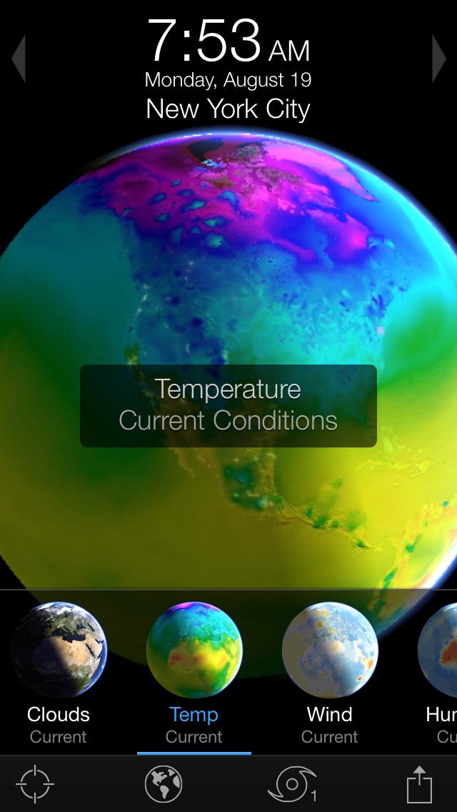 Living Earth - Clock & Weather screenshot 3