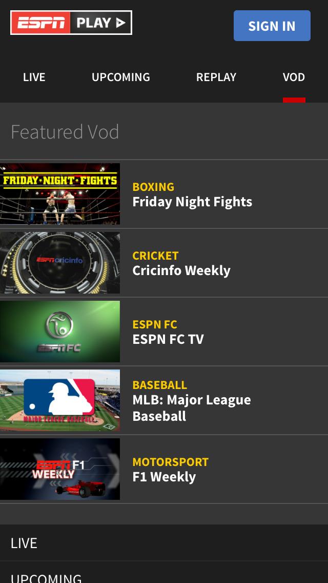 ESPNPlay Caribbean screenshot 3