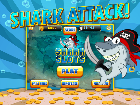 Ace Shark Slots - Fun Fish Tank Bash Vegas Slot Machine Games Free screenshot 7