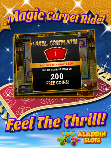 Ace Arabian Casino Slots - Magic Genie Jackpot Big Win Adventure Slot Machine Game HD screenshot 8