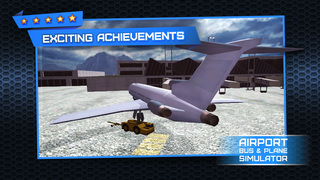 3D Airport Bus and Air-Plane Simulator - Real Driving, Racing & Parking School and Car Test Drive Game screenshot 3