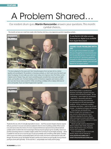 iDrum magazine: Drummer magazine's digital edition screenshot 10