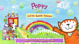 Poppy Cat and the Bubble Volcano Free screenshot 1