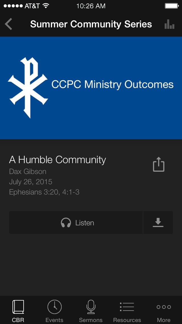 Christ Community Pres. Church screenshot 2