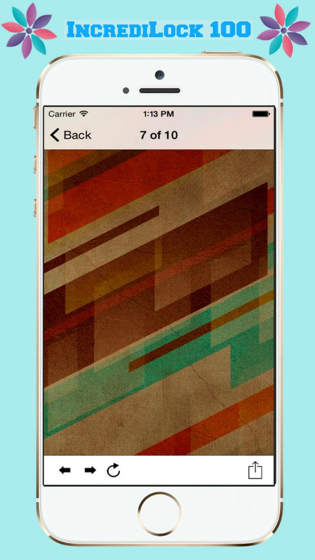 IncrediLock 100 - Beautiful and Fancy Abstract Backgrounds screenshot 4