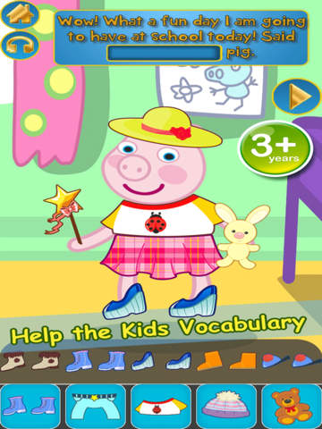 My Interactive Happy Little Pig Story Book Dress Up Time Game - Free App screenshot 6
