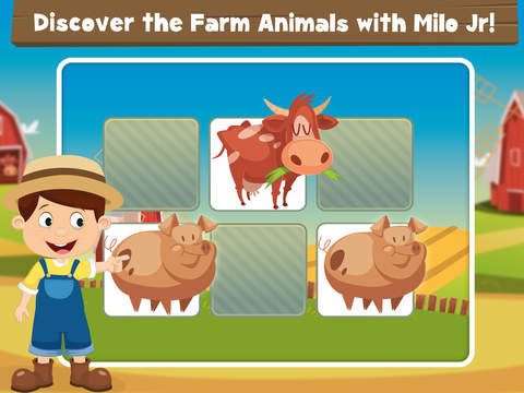 Milo's Free Mini Games for a wippersnapper - Barn and Farm Animals Cartoon screenshot 9