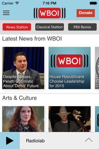 WBOI Public Radio App - náhled
