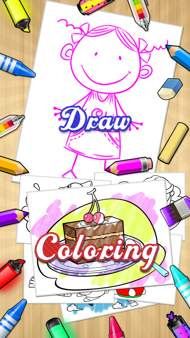 Kids Doodle Coloring Book HD - Color & Draw Kids games screenshot 3