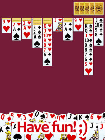 Spider solitaire - classic popular game screenshot 8