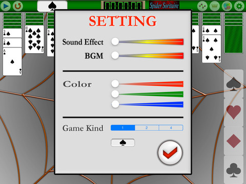 Touch Spider Soritaire Free PVN screenshot 9