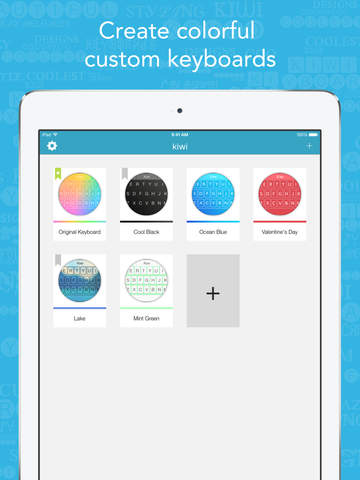 Kiwi - Colorful, Custom Keyboard Designer with Emoji for iOS 8 screenshot 6