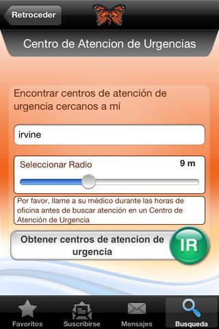 Español del Monarch CareFinder - náhled