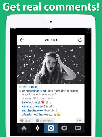 Get Comments & Likes for Instagram on Famousgram | Apps