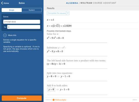 Wolfram Algebra Course Assistant screenshot 8