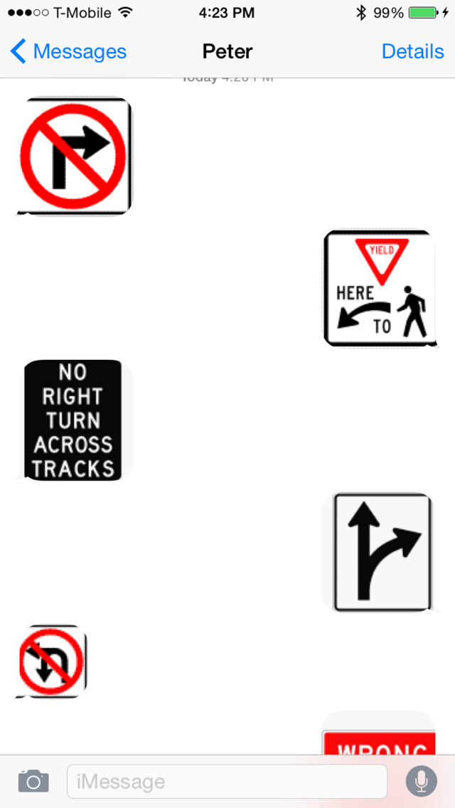 Road Signs Keyboard Stickers: Chat with Traffic Icons on Message and More screenshot 1