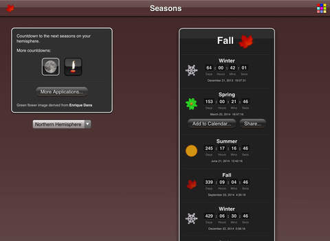 Seasons App screenshot 8
