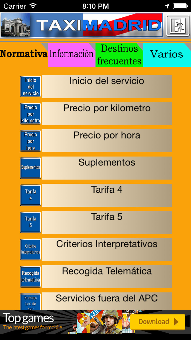 TaxiMadrid - ayuda al profesional del taxi de Madrid screenshot 5