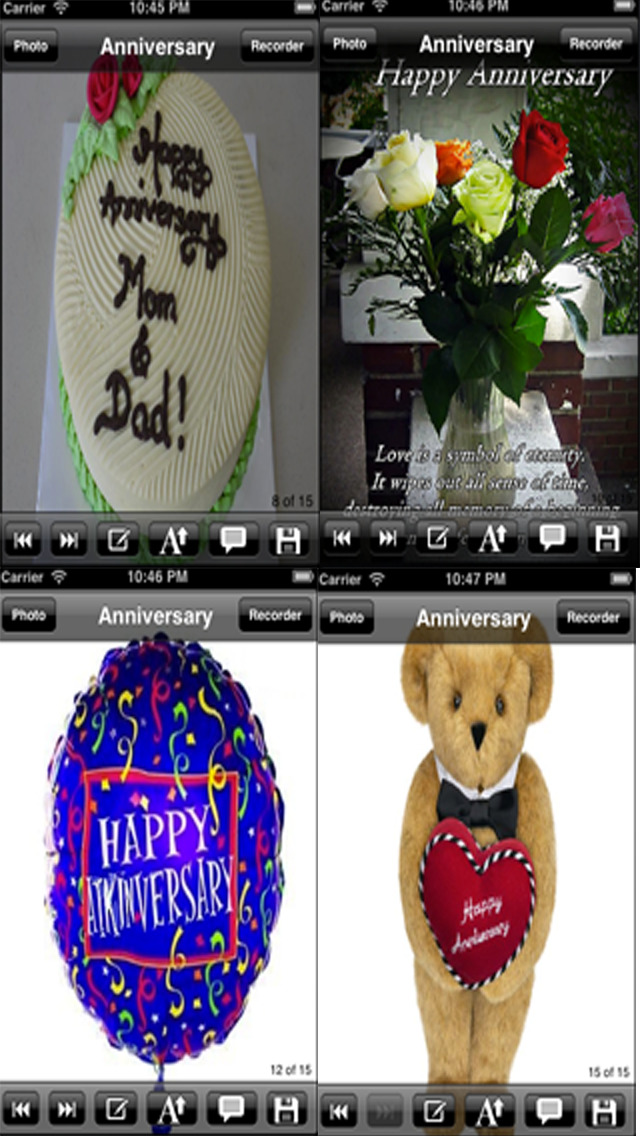 The Ultimate Anniversary eCards with Photo Editor.Customize and send anniversary eCards with text and voice greeting messages screenshot 4